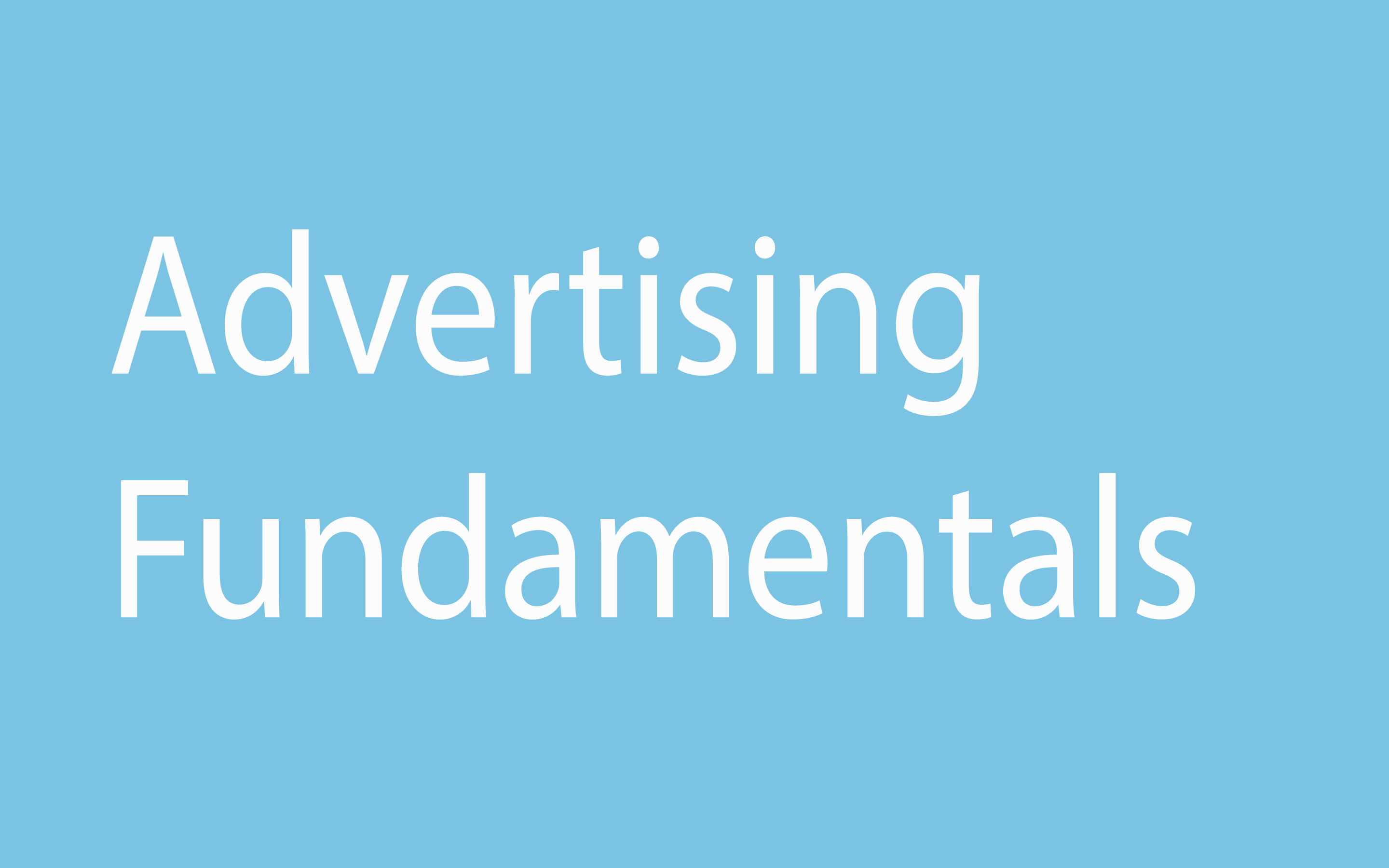 Advertising Fundamentals